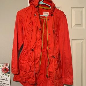 🧥Mossimo Red orange women's Small coat 🧥